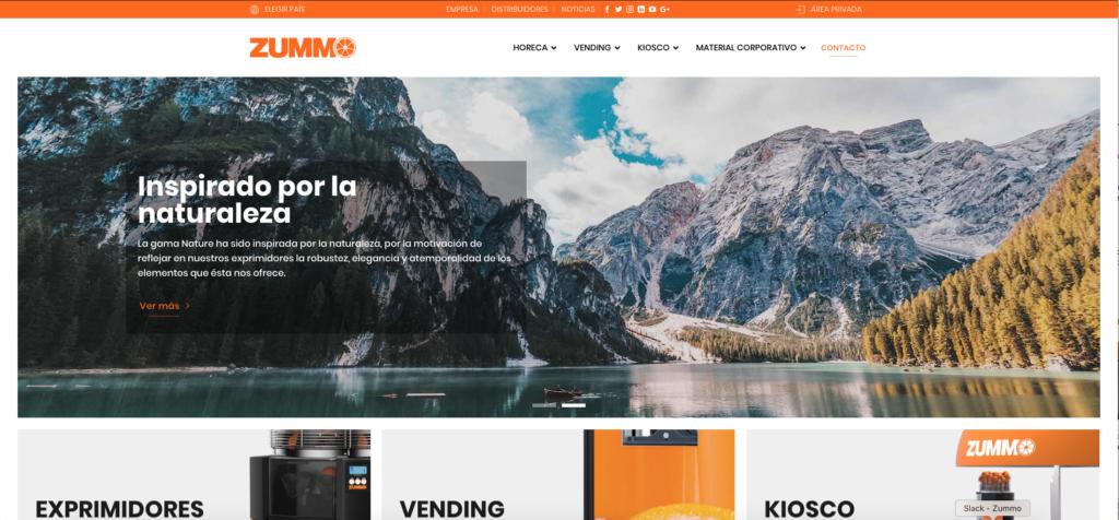 nueva web de Zummo