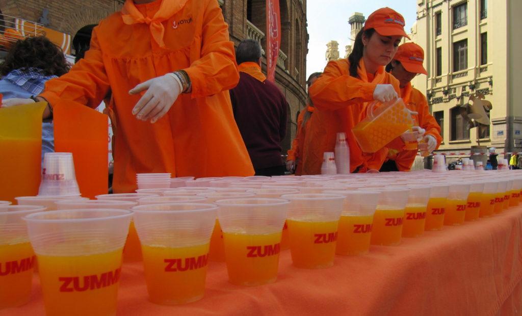 Zummo en la Naranjada fallera