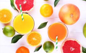 temporada frutas zumo